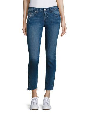 Stix Cropped Raw Hem Skinny Jeans by AMO