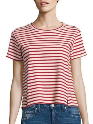 AMO Striped Twist Seam Tee at Saks Fifth Avenue