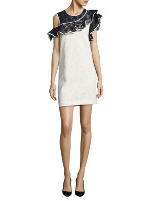 Mila Ruffle Trim Sleeveless Shift Dress