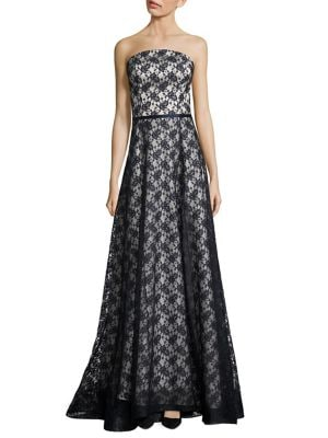 Tina Strapless Lace Gown