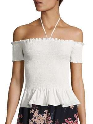 Off-the-Shoulder Pop Top by Rebecca Taylor