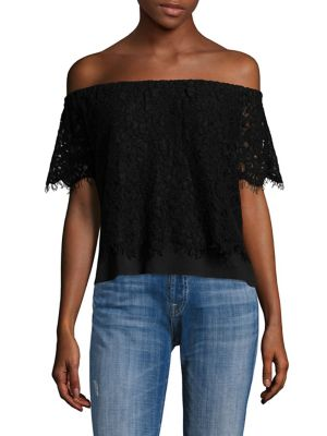 Carly Lace Off-the-Shoulder Top by Generation Love