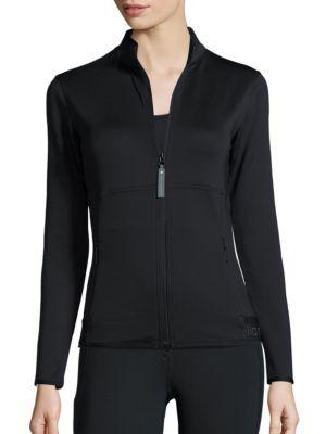ADIDAS BY STELLA MCCARTNEY The Midlayer Zip-Front Jacket, Black
