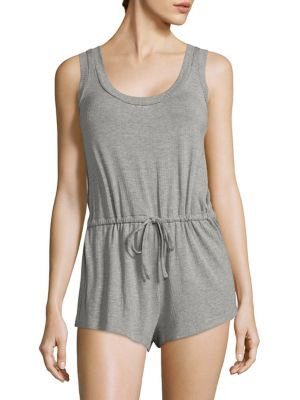 COLLECTION Maddie Heathered Short Jumpsuit