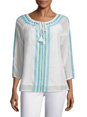Embroidered Tunic Top by Vineyard Vines