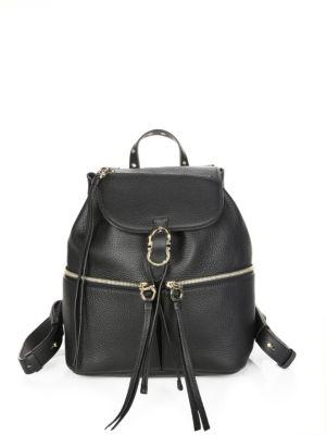 Ganciorama Carol Leather Medium Backpack
