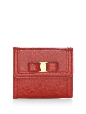 French Continental Vara Bow Leather Wallet