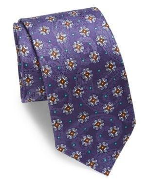 Paisley & Floral Silk Tie