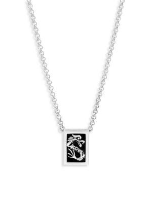 Naga Sterling Silver & Black Onyx Pendant Necklace