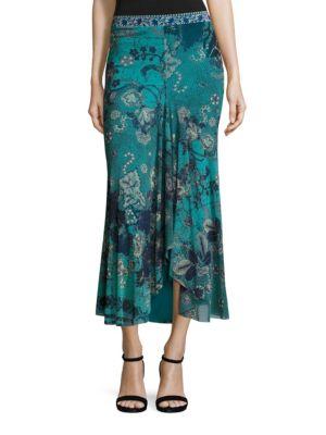 Batik Floral Maxi Skirt by Fuzzi