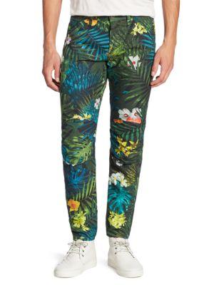 ELWOOD X PHARRELL Aloha-Print Jeans