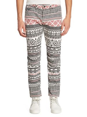 Straight-Fit Glyph Printed Jeans