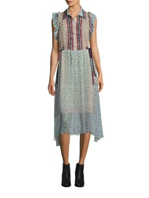 Prairie Ruffle Sleeve Dress