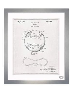 Framed Baseball 1928 Print