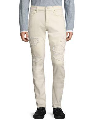 Paxtyn Skinny Clean Pocket Distressed Jeans 0400093669783
