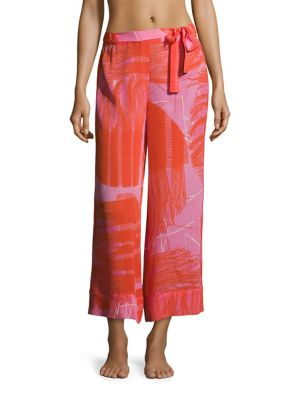 Manila Bay Patterned Silk Pants