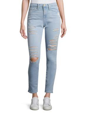 Le Skinny De Jeanne Distressed Skinny Jeans