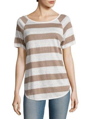 Dolphin Striped Linen Tee by FRAME