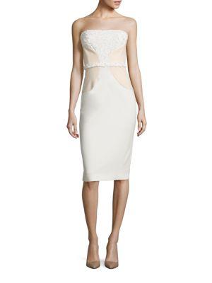 Shelina Laser-Cut Strapless Dress