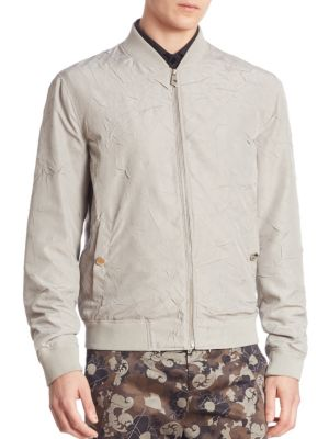 Wrinkled Blouson Jacket