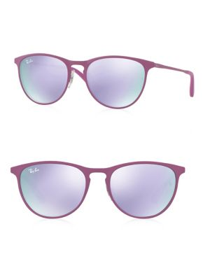 Junior Mirrored Round Sunglasses