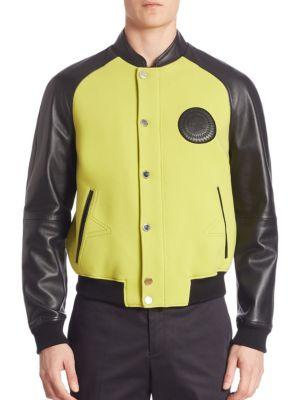Giubbotto Leather Bomber Jacket