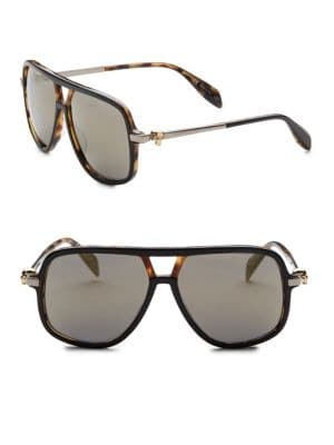 Kering 58MM Rectangular & Square Sunglasses