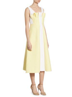 A-Line Linen Midi Dress