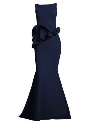 Evan Ruffled Mermaid Gown