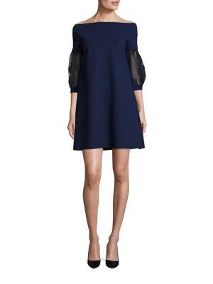 Mirelle Organza Shift Off-The-Shoulder Dress