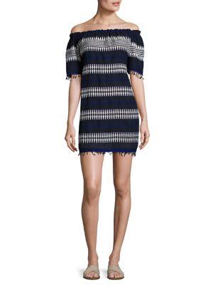 Tabtab Striped Off-The-Shoulder Dress