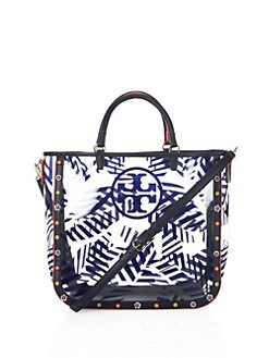 cf24e8ed123f Tory Burch Marguerite Palm Leaf-Printed Tote from Saks Fifth Avenue ...
