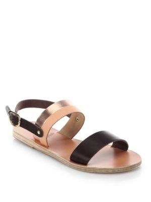 Dinami Leather Slingback Sandals