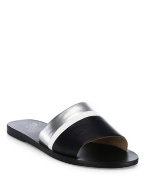Taygete Colorblock Vachetta Leather Slides