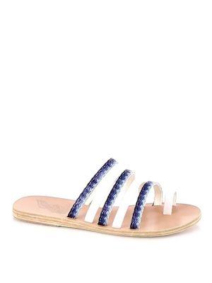 Niki Raffia & Leather Slides