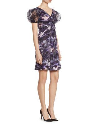 Full Sleeve Silk Charmeuse V-Neck Dress by Giorgio Armani