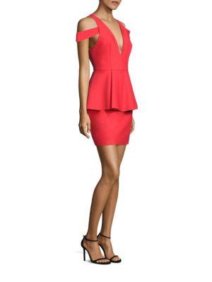 Simona Cold-Shoulder Peplum Dress