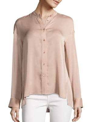 Solid Pintuck Blouse