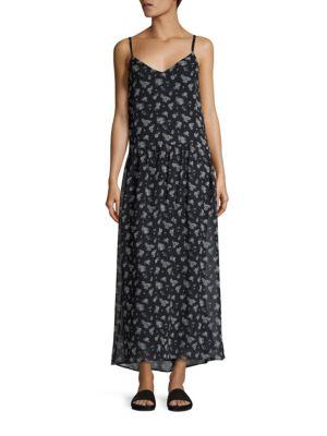 Calico Floral-Print Silk Maxi Dress