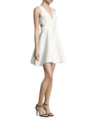 Deep V-Neck Silk Faille Dress