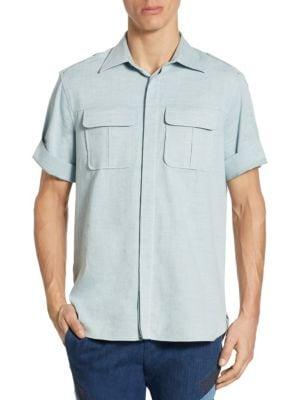 Neil Barrett Military Sleeve标准剪裁衬衣