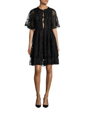 Onassis Tiered Silk-Blend Dress