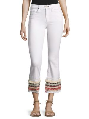 Ambrosio Gainsbourg Cropped Bootcut Jeans