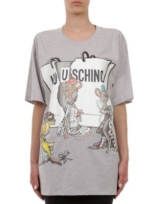Capsule Oversize Cotton-Jersey Graphic Tee by Moschino