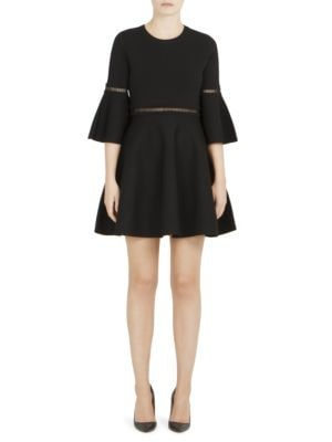 Bell Sleeve Fit-&-Flare Dress