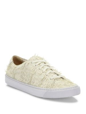 Logan Leather Fringed Sneakers