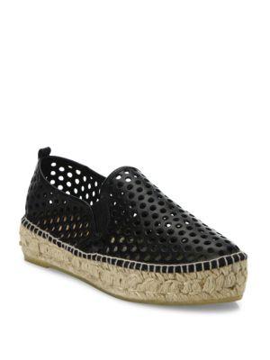 Rowan Perforated Vachetta Leather Platform Espadrille Sneakers