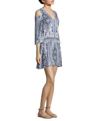 Buy Alice + Olivia Jolene Cold-Shoulder Dress online with Australia wide shipping