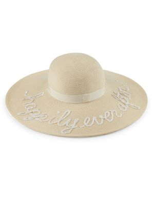 Bunny Sequined 'Happily Ever After' Sunhat