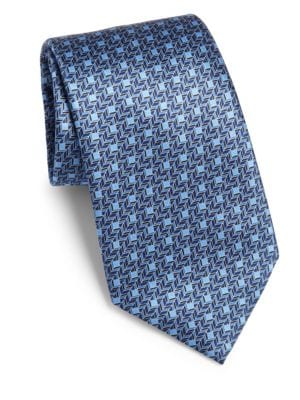 Geometric Diamond Silk Tie